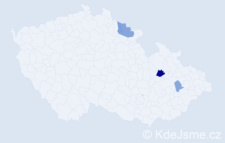 Příjmení: 'Ewingerová', počet výskytů 7 v celé ČR