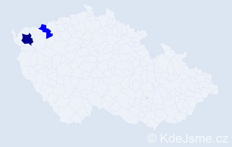 Příjmení: 'Ebohon', počet výskytů 3 v celé ČR