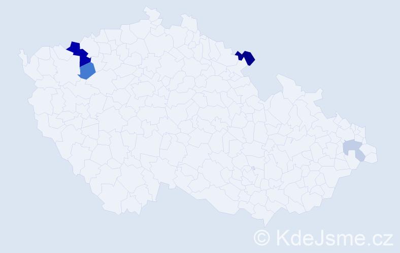 Příjmení: 'Göhler', počet výskytů 9 v celé ČR