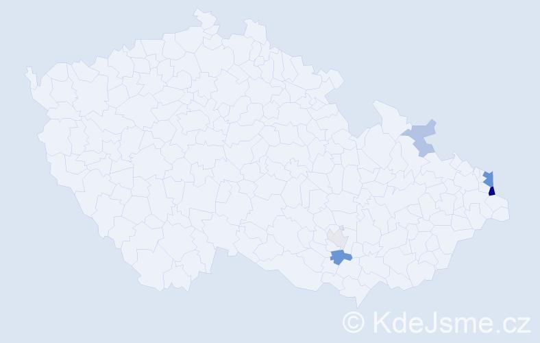 Příjmení: 'Calabro', počet výskytů 14 v celé ČR