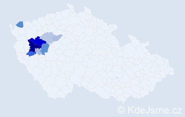 Příjmení: 'Čihová', počet výskytů 23 v celé ČR