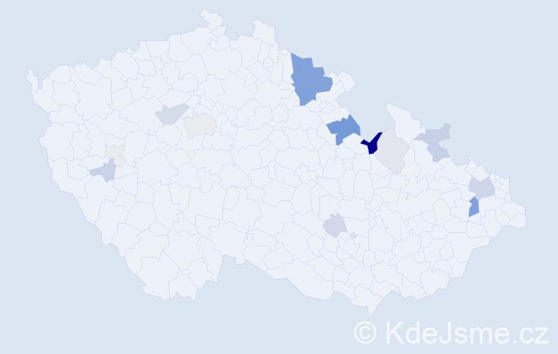 Příjmení: 'Kolbe', počet výskytů 56 v celé ČR
