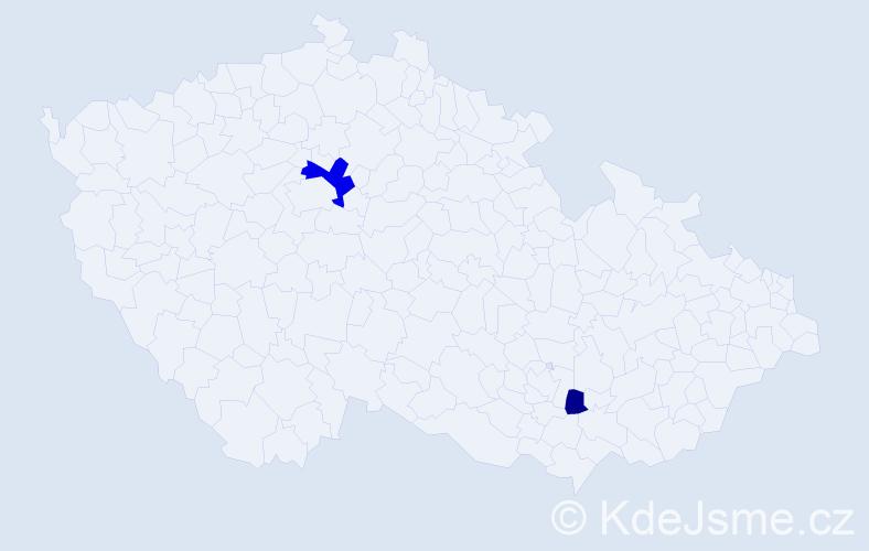Příjmení: 'Khuna', počet výskytů 8 v celé ČR
