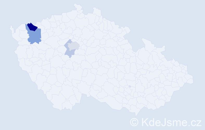 Příjmení: 'Hoffmeister', počet výskytů 9 v celé ČR