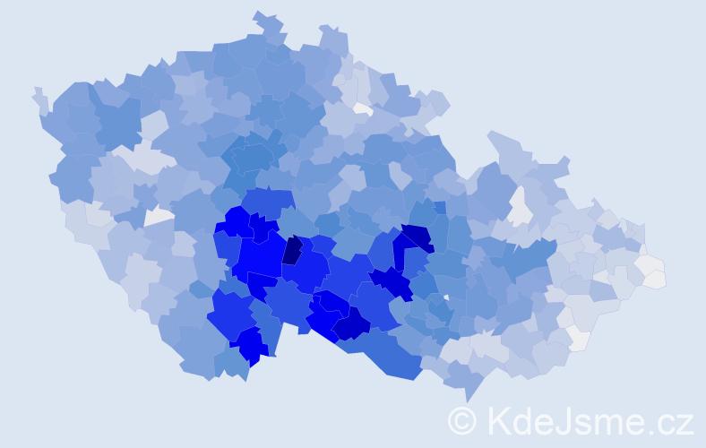 Příjmení: 'Dvořák', počet výskytů 22264 v celé ČR