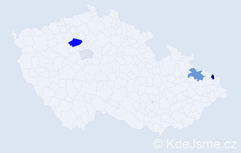 Příjmení: 'Holeschová', počet výskytů 4 v celé ČR
