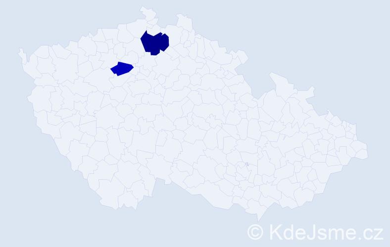 Příjmení: 'Koudková', počet výskytů 3 v celé ČR