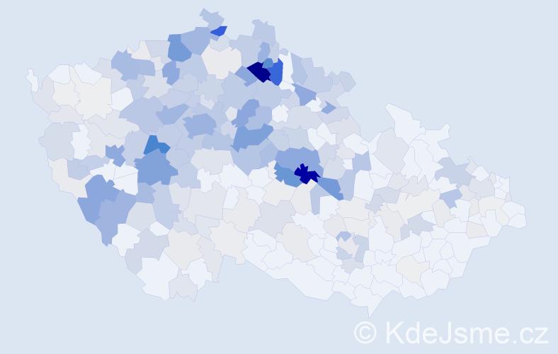 Příjmení: 'Hejduková', počet výskytů 1028 v celé ČR
