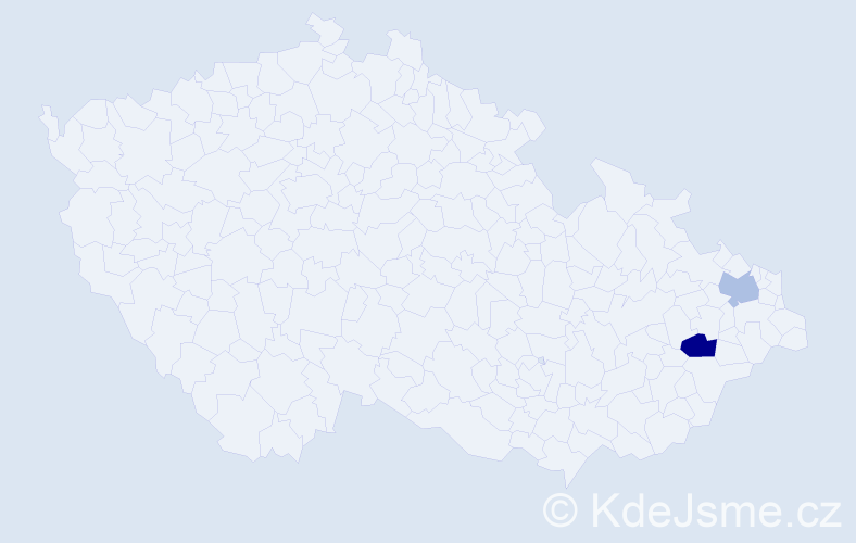 Příjmení: 'Ertinger', počet výskytů 5 v celé ČR