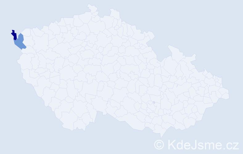 Příjmení: 'Kandrai', počet výskytů 2 v celé ČR