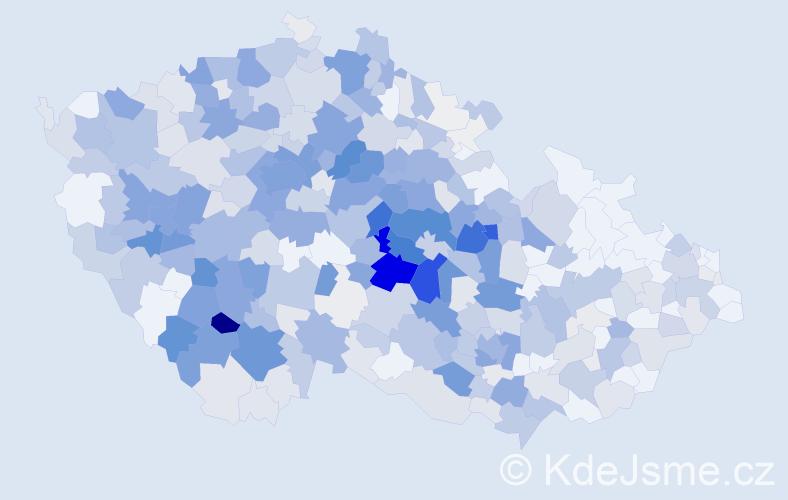 Příjmení: 'Čejka', počet výskytů 2031 v celé ČR