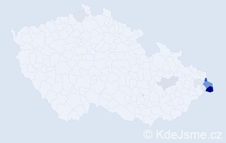 Příjmení: 'Brozda', počet výskytů 25 v celé ČR