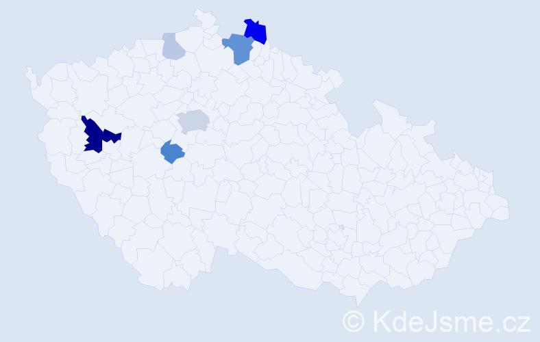 Příjmení: 'Ebermannová', počet výskytů 18 v celé ČR
