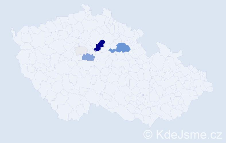 Příjmení: 'Čamr', počet výskytů 8 v celé ČR