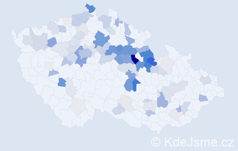 Příjmení: 'Janebová', počet výskytů 306 v celé ČR