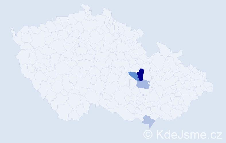 Příjmení: 'Elsinger', počet výskytů 7 v celé ČR