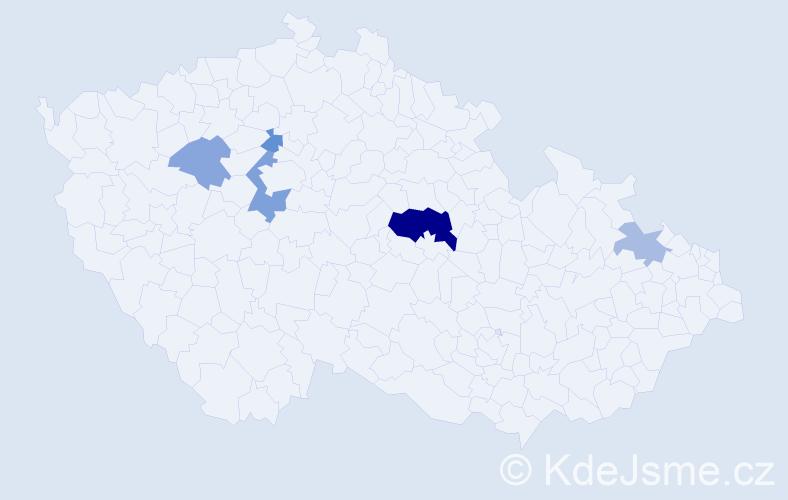 Příjmení: 'Breiterová', počet výskytů 11 v celé ČR