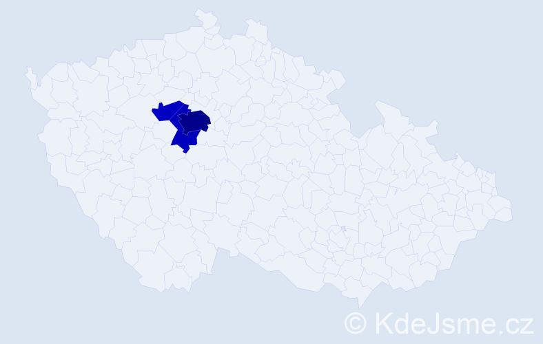 Příjmení: 'Fíl', počet výskytů 10 v celé ČR