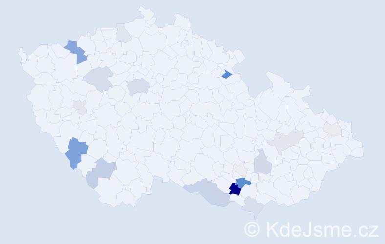 Příjmení: 'Bauchová', počet výskytů 37 v celé ČR
