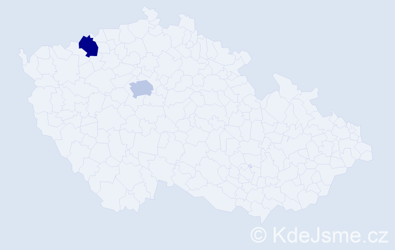Příjmení: 'Ilk', počet výskytů 2 v celé ČR