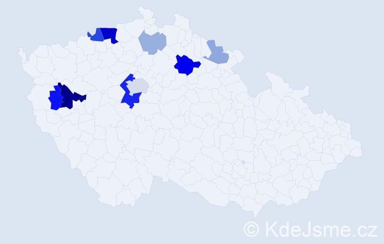 Příjmení: 'Landgrafová', počet výskytů 26 v celé ČR