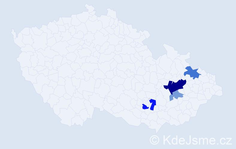 Příjmení: 'Malcánek', počet výskytů 10 v celé ČR