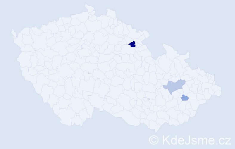 Příjmení: 'Hrycík', počet výskytů 11 v celé ČR