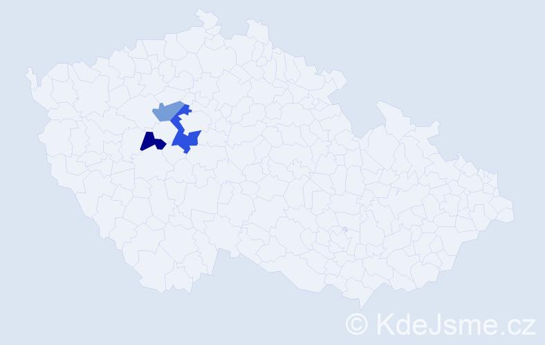 Příjmení: 'Ding', počet výskytů 4 v celé ČR