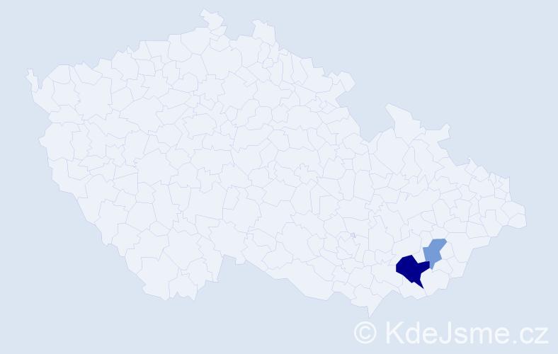 Příjmení: 'Kalaitzidis', počet výskytů 4 v celé ČR