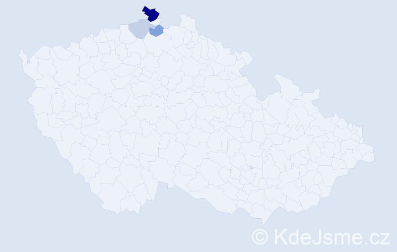 Příjmení: 'Barkovská', počet výskytů 7 v celé ČR