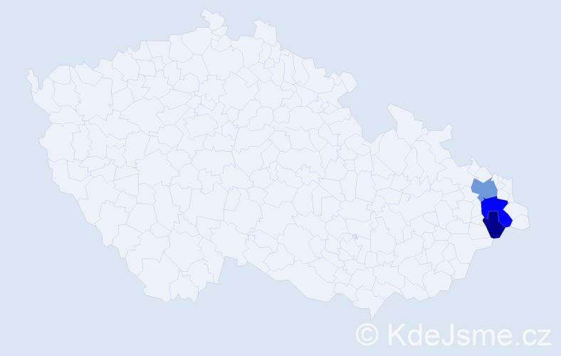 Příjmení: 'Komenský', počet výskytů 7 v celé ČR