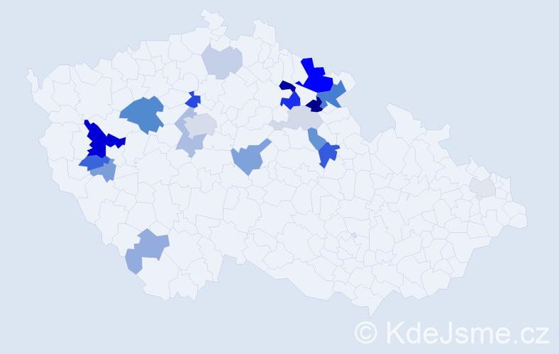 Příjmení: 'Faifr', počet výskytů 55 v celé ČR