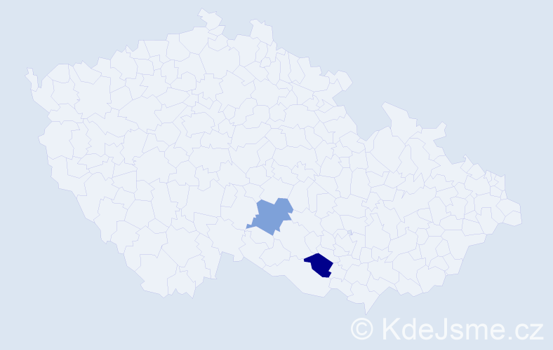 Příjmení: 'Bodoki', počet výskytů 2 v celé ČR