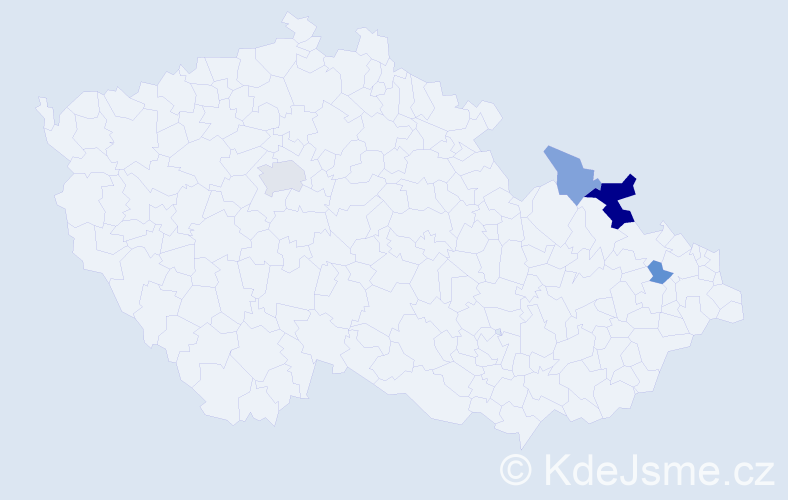 Příjmení: 'Adamopulosová', počet výskytů 8 v celé ČR