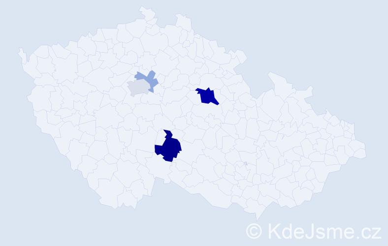Příjmení: 'Akšteinová', počet výskytů 12 v celé ČR