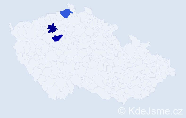 Příjmení: 'Goré', počet výskytů 4 v celé ČR