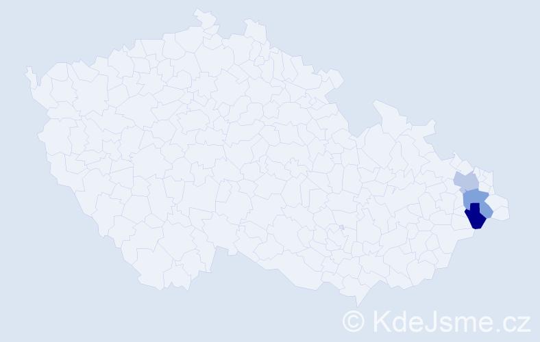 Příjmení: 'Bilek', počet výskytů 3 v celé ČR