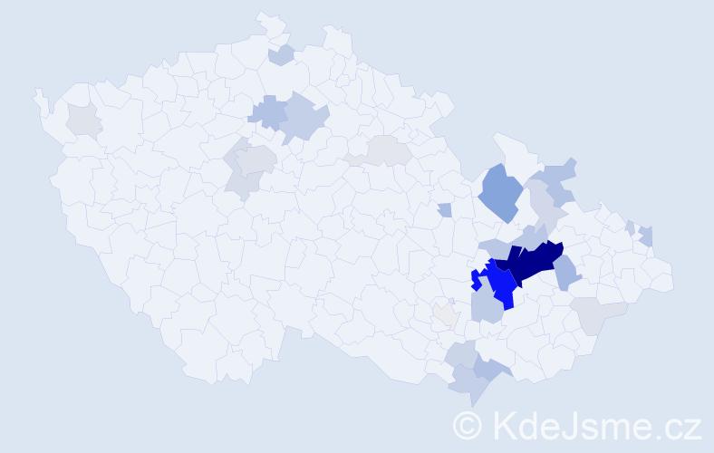 Příjmení: 'Báťková', počet výskytů 113 v celé ČR