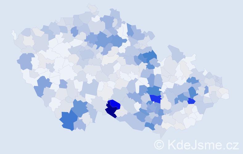 Příjmení: 'Jakubec', počet výskytů 1530 v celé ČR