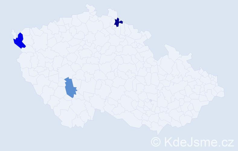 Příjmení: 'Buznová', počet výskytů 4 v celé ČR