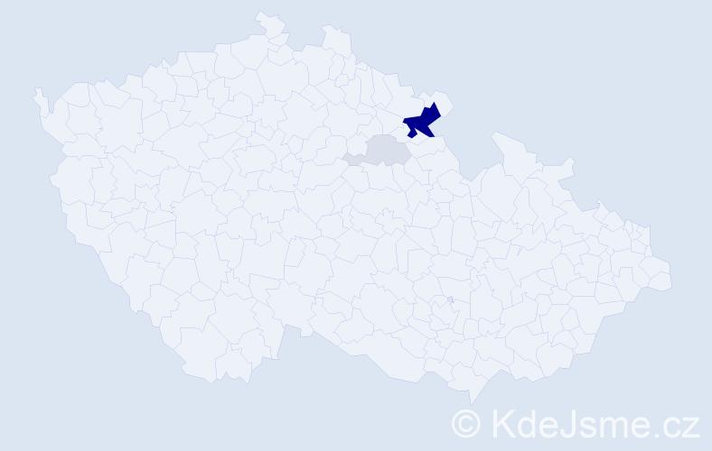 Příjmení: 'Jiří', počet výskytů 14 v celé ČR