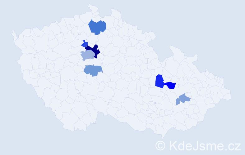 Příjmení: 'Fišmistrová', počet výskytů 17 v celé ČR