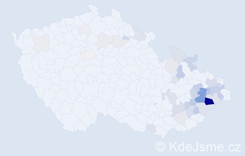 Příjmení: 'Dorotík', počet výskytů 165 v celé ČR
