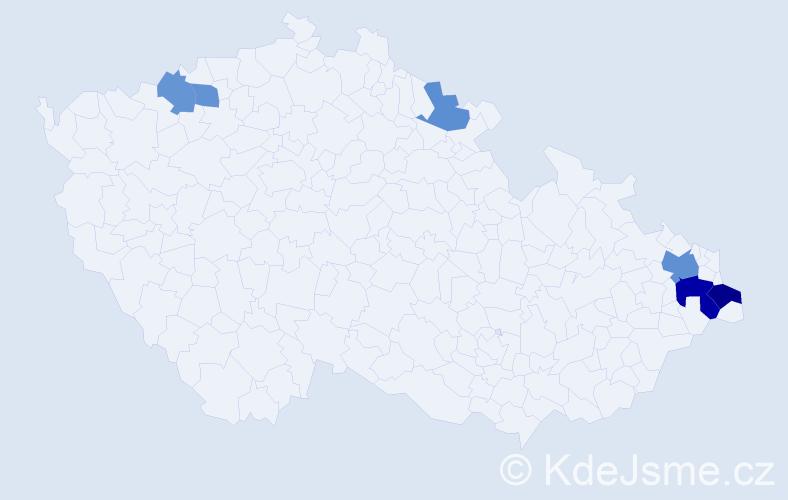 Příjmení: 'Ambrózová', počet výskytů 11 v celé ČR