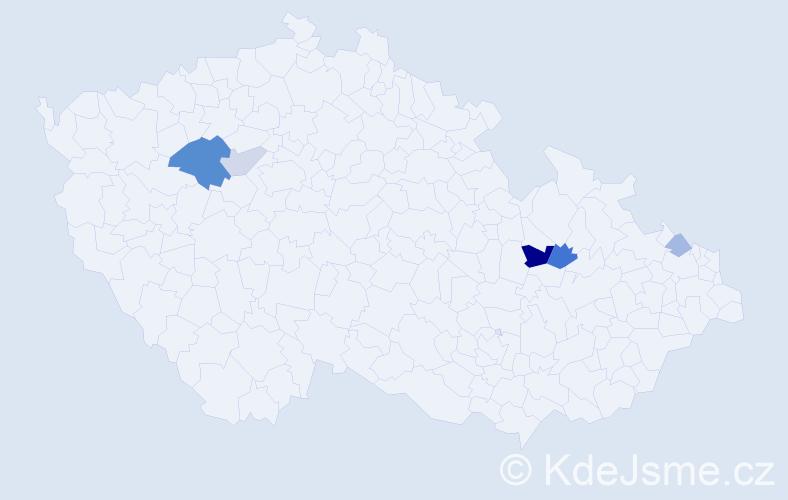 Příjmení: 'Čislinský', počet výskytů 11 v celé ČR