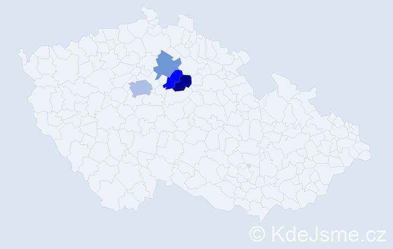 Příjmení: 'Acsayová', počet výskytů 6 v celé ČR