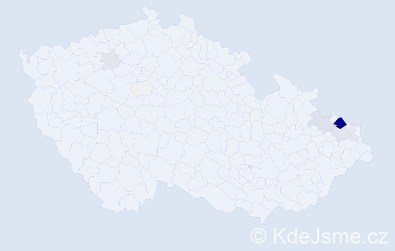 Příjmení: 'Chvějová', počet výskytů 48 v celé ČR