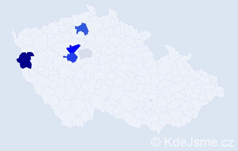 Příjmení: 'Čika', počet výskytů 6 v celé ČR
