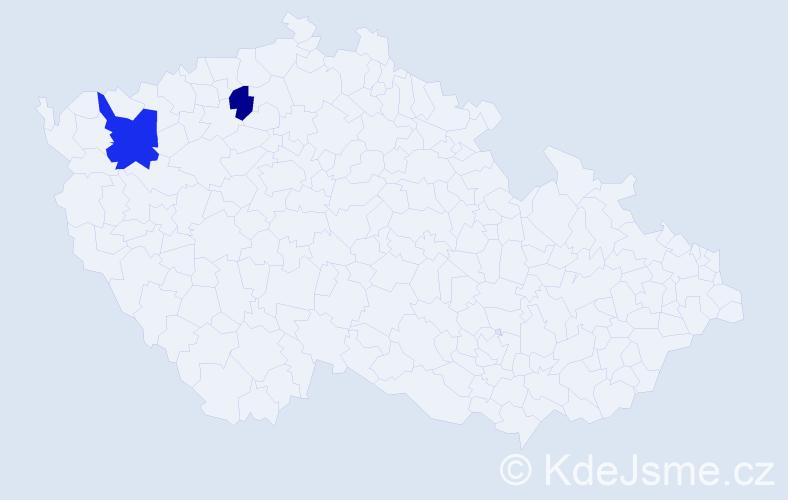 Příjmení: 'Gallšneiderová', počet výskytů 3 v celé ČR