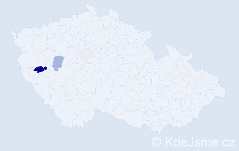 Příjmení: 'Skořený', počet výskytů 5 v celé ČR